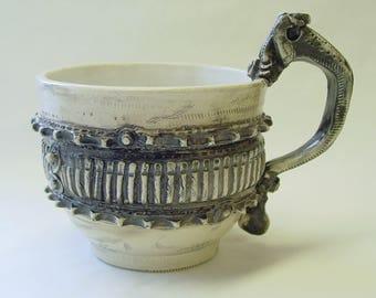 Large Frilled Gear Soup Mug with Clutch Lever Handle v2.0