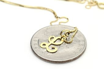 Gold l necklace etsy 14k yellow gold initial letter l pendant necklace aloadofball Gallery