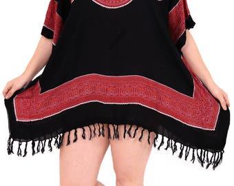 La Leela Women's Dress Designer Sundress Beachwear Swimwear Bikini Swimsuit Cover up - 901624