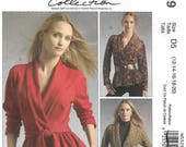 McCall's 5529 Misses' Wrap Fitted Jackets, Peplum Variations and Belt Sewing Pattern Size 12 to 20 Bust 34 to 42