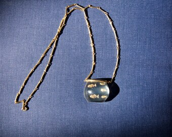Castlecliff Lucite Fish Bowl Necklace