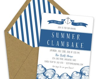 Clambake Invitations