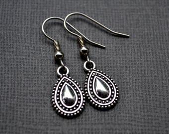 Silver Bohemian Teardrops . Earrings