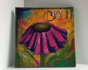 Bloom Lake Phalen Coneflower 10x10 Painting