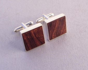 Wooden Cuff Links SHIPS IMMEDIATELY Handmade Desert Ironwood Cufflinks