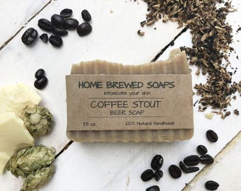 Beer Soap, Coffee Soap, Mens Gift, Beer Lover, Beer Gifts for Dad, Artisan Soap, Boyfriend Gift, Homemade Soaps, Gift for Him, Man Soap