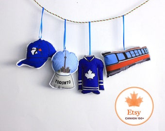 Toronto Ornaments: Toronto city themed- Canadian Christmas ornament set