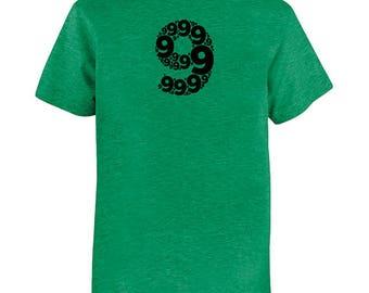 Birthday Shirt - Ninth Birthday Number 9 - Kids Tshirt - Tee - Youth Boys Shirt Super Soft PolyCotton Party 9th Birthday