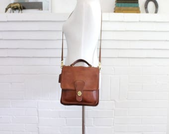 Vintage Coach Bag // Crossbody Bag // Station Messenger Bag in British Tan // Coach Purse Handbag