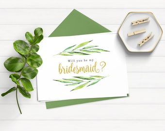 Will You Be My Bridesmaid Card, Will You Be My Bridesmaid Download, Bridesmaid Proposal, Instant Download, Printable Card, Ask Bridesmaid