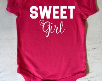 Sweet Girl Baby Bodysuit