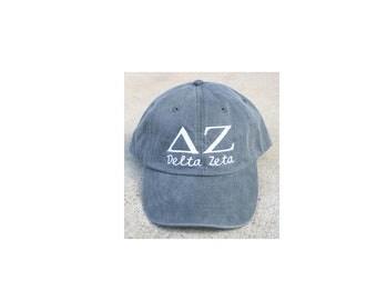 Delta Zeta with script baseball cap