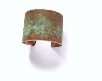 Aged Copper Patina Cuff Bracelet