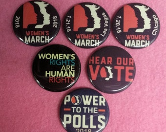 Woman's March Pin 2018, Womans March Button Pin, Woman's March in Washington