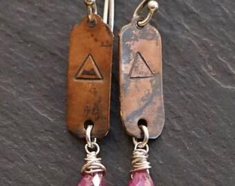 Fire element, warrior earrings, givingthroughjewelry, ALCCREATIONS