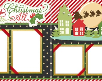 Merry Christmas to All - Digital Scrapbook Quick Pages - INSTANT DOWNLOAD