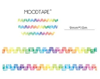 Colorful Square Washi Tape (9mm X 10M)