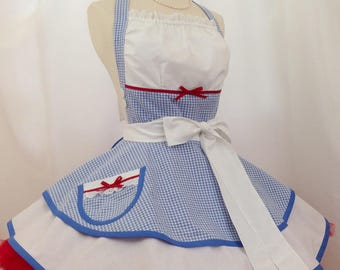 Dorothy In Oz Pin Up Apron, Costume