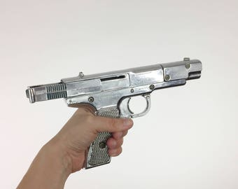 Vintage Mid Century Toy Gun Marksman Morton H Harris 1950's Chrome Pistol Pellet BB Gun USA Los Angeles Silver Antique Toy Gun Firearm