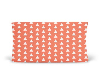 Changing Pad Cover Coral Triangle - ModFox Exclusive- Coral Changing Pad- Triangle Changing Pad- Soft Minky Changing Pad Cover- Organic