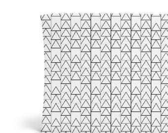 Changing Pad Cover Black Triangle Stack - ModFox Exclusive- Black Changing Pad- Triangle Changing Pad- Monochrome Changing Pad- Organic