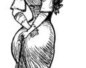 Woman Gibson Girl Victorian Curvy Voluptuous - Digital Image - Vintage Illustration