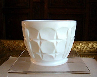 Vintage Indiana Milk Glass Nut Cup or Bowl Constellation Pattern