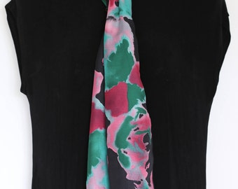 Lightweight Scarf  With Rolled hem