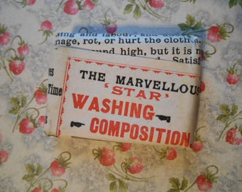 Edwardian Marvellous Star Washing Composition Laundry Tablet Domestic Antique