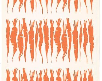 Carrot Organic Kitchen Towel - Carrot Orange