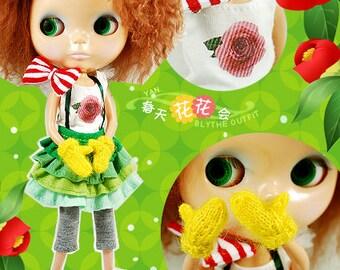 Clearance Sale - YAN - Spring Flower Set for Blythe doll