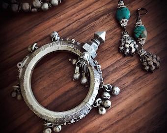 Vintage Spike Bracelet Spiked Tribal Bracelet Kuchi Spike Bracelet Gypsy Warrior Bracelet Tribal Belly Dance Jewelry Ethnic Gypsy Jewelry