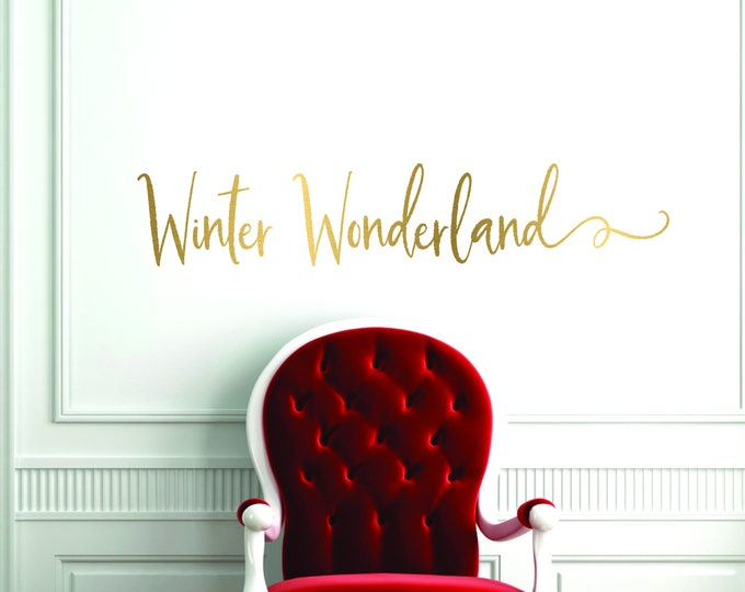 Christmas Door Decal //  Winter Wonderland Front Door Decal  // Farmhouse Christmas Wall Decal  // Farmhouse Christmas