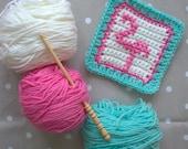 Crochet Pattern - Flamingo Crochet Square - PDF