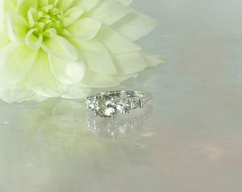 Bespoke Ring, Three Stone Ring, Engagement Ring, Diamond Alternative, Conflict Free Engagment Ring, Bespoke, Three Stone Engagement Ring,