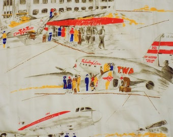 Vintage TWA Trans World Airlines Scarf