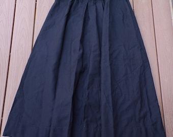 black wool EDWARDIAN WALKING SKIRT plus size 40 waist xl
