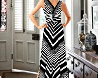 Maxi Strip Dress Made To Measurement