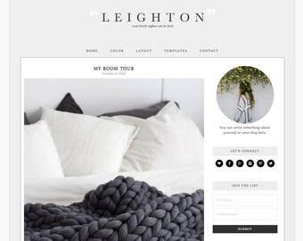 "Wordpress Theme Responsive Blog Design ""Leighton"" - Classic and clean"
