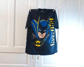1988 Batman Face T shirt - Vintage DC comics mask Tshirt - Bruce Wayne comic Bat Man movie