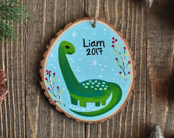Dinosaur Ornament, Ornaments for Boys, Personalized Gifts for Kids, Kids Ornament, Christmas Gift for Baby Boy, One of a Kind Ornament