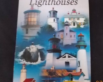 5 Swap Cards of Oregon Lighthouses - Playing Cards - Journal Supply, Collage Paper, Mix Media, Assemblage, Scrapbook Supply, Altered  Art