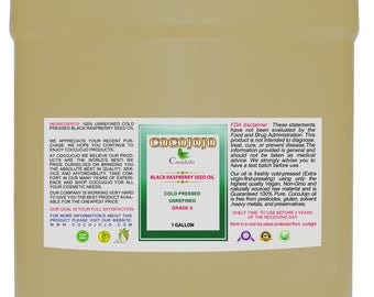 Pure Black Raspberry Seed Oil 100% All Natural, Unrefined, Cold Pressed