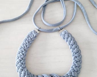Lots of colors available! The knot necklace - handmade in jersey fabric