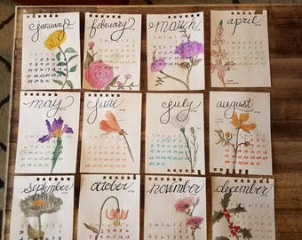 2018 Jennifer Adabeth Botanical Calendar