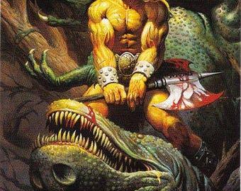 Vintage Ken Kelly Collection #2 Trading Card 1994, Fantasy Art, Sword And Sorcery, Heroic Fantasy, Conan the Barbarian, Tarzan, KISS