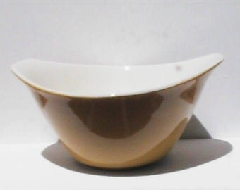 vintage ochre yellow small serving bowl. vintage bowl.