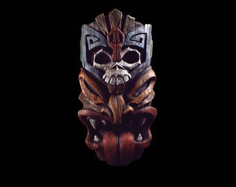 Large Tiki War Head