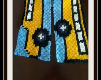School Bus Scarf, C2C Graph, Crochet Pattern, School Bus C2C Graph