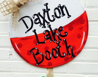 Baby Fishing Bobber with Fish Date/Time Plaque Personalized